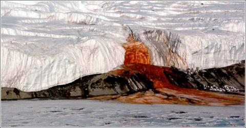 quimica cataratas de sangre antártida